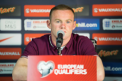 Wayne Rooney during press conference of England National Football Team 1 day before Euro 2016 Qualifications match against Slovenia, on June 13, 2015 in SRC Stozice, Ljubljana, Slovenia. Photo by Vid Ponikvar / Sportida