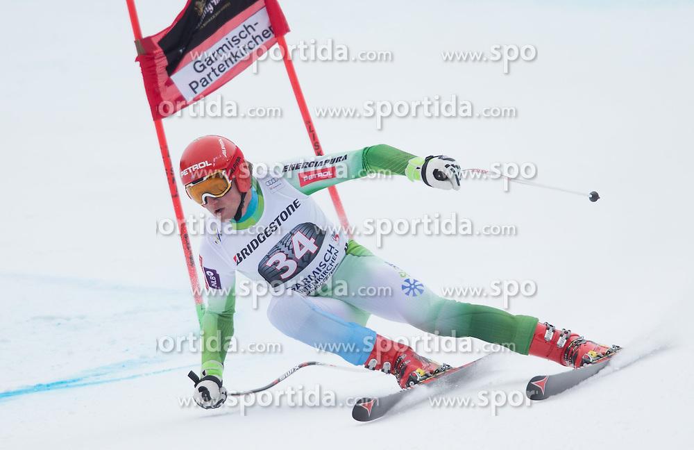 27.02.2015, Kandahar, Garmisch Partenkirchen, GER, FIS Weltcup Ski Alpin, Abfahrt, Herren, 2. Training, im Bild Klemen Kosi (SLO) // Klemen Kosi of Slovenia in action during the 2nd trainings run for the men's Downhill of the FIS Ski Alpine World Cup at the Kandahar course, Garmisch Partenkirchen, Germany on 2015/27/02. EXPA Pictures © 2015, PhotoCredit: EXPA/ Johann Groder