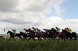 Runners and riders compete in the Goffs Land Rover Bumper race during day one of the Punchestown Festival in Naas, Co. Kildare.