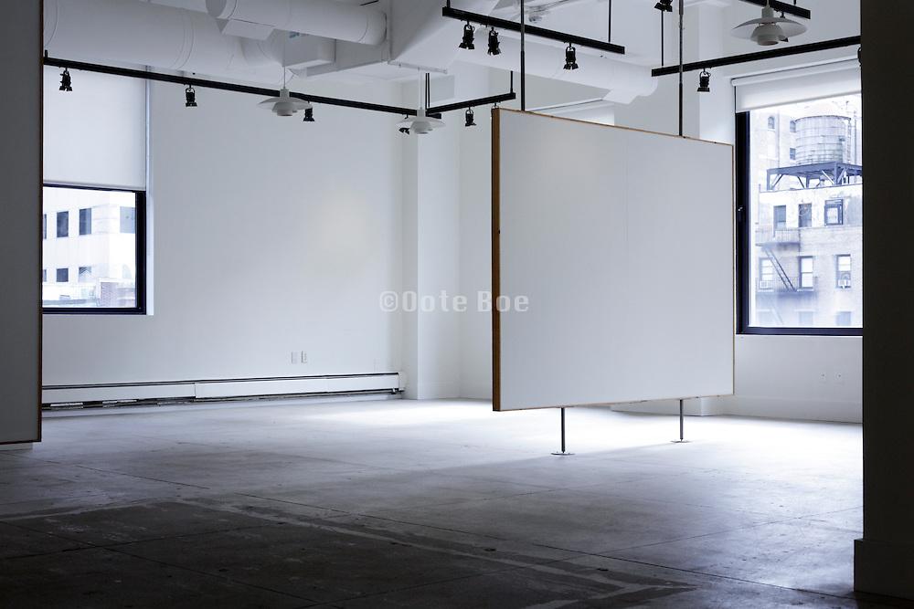 empty gallery space New York City