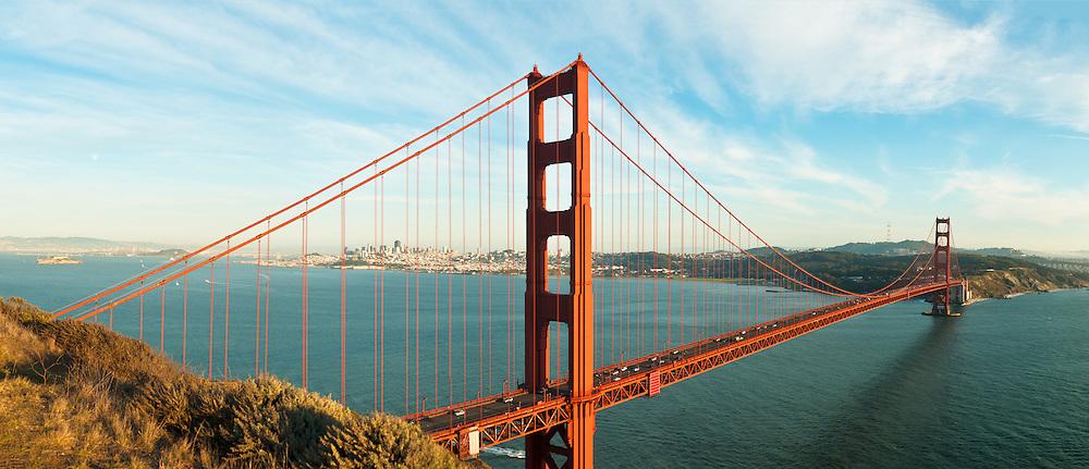 Panorama of the Golden Gate Bridge & San Francisco, California
