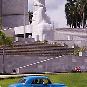 Plaza de la Revolucion, anchored by a monument to Jose Marti, is the site where Fidel Castro and his brother Raul have addressed millions of Cubans in massive rallies. The plaza is surrounded by  administrative buildings that house some of the most important offices of Cuba's  government.<br /> Photography by Jose More