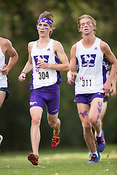 Ben Carson of the Western Mustangs  (304) competes in the men's 8k  at the 2015 Western International Cross country meet in London Ontario, Saturday,  September 26, 2015.<br /> Mundo Sport Images/ Geoff Robins