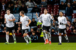 Ramiro Funes Mori of Everton celebrates scoring a goal after just 5 minutes to make it 0-1 - Mandatory byline: Rogan Thomson/JMP - 01/03/2016 - FOOTBALL - Villa Park Stadium - Birmingham, England - Aston Villa v Everton - Barclays Premier League.