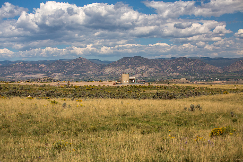 Fracking industry site in Garfield County Colorado next to Rick Roles property.