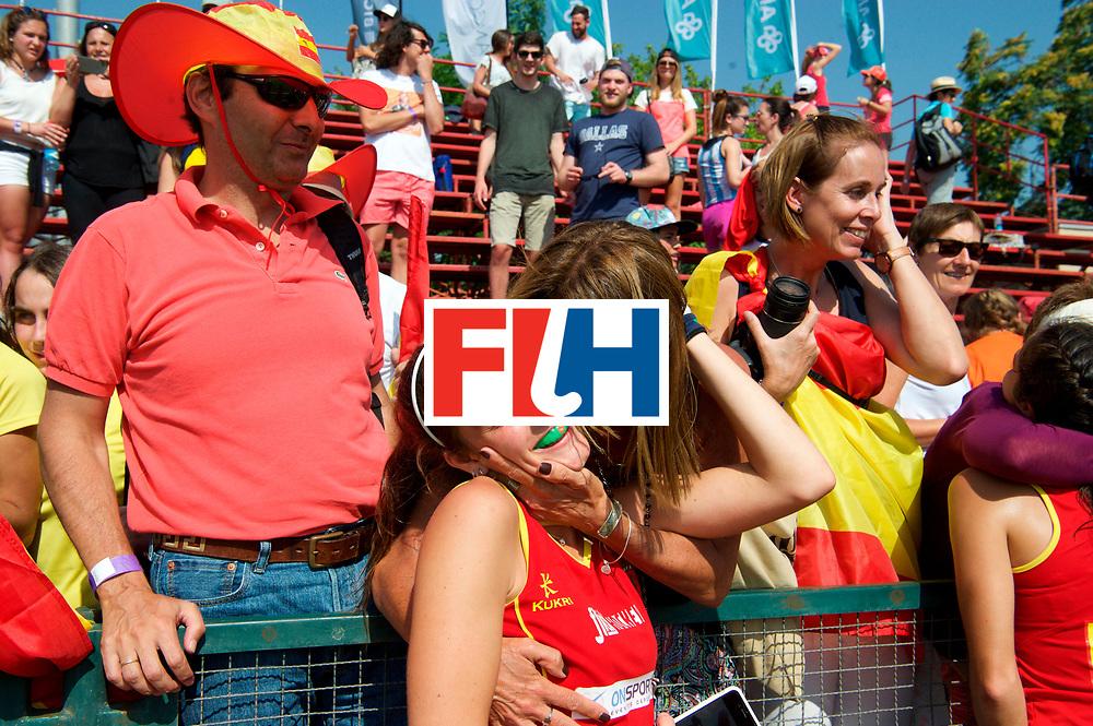 SANTIAGO - 2016 8th Women's Hockey Junior World Cup<br /> ESP v ENG (QF)<br /> foto: SPAIN celebrations.<br /> FFU PRESS AGENCY COPYRIGHT FRANK UIJLENBROEK