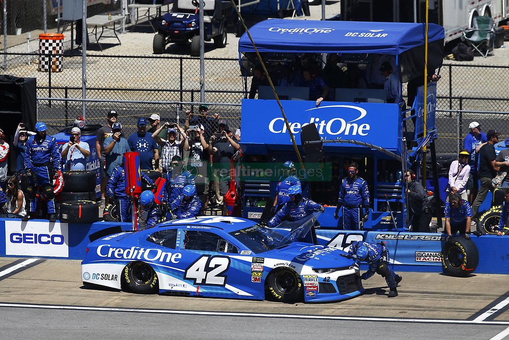 April 29, 2018 - Talladega, Alabama, United States of America - Kyle Larson (42) brings his car down pit road for service during the GEICO 500 at Talladega Superspeedway in Talladega, Alabama. (Credit Image: © Chris Owens Asp Inc/ASP via ZUMA Wire)