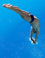 Phoenix Country Day School student Drew Teer practice diving on October 22, 2004.