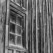Boathouse Pane Glass Window - Florence Oregon - Black & White