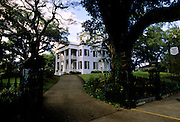 Entrance to Stanton Hall, one of many antebellum homes in Natchez, Mississippi.
