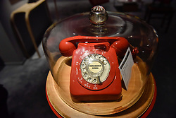 "© Licensed to London News Pictures. 28/06/2017. London, UK.  Inspired by the 1960s Batman TV series, ""Commissioner Gordon's Phone"", 1969, by Clive Barker.  Preview day at Masterpiece London, a leading art fair held in Chelsea, bringing together 150 international exhibitors presenting works from antiquity to the present day.  The event runs 29 June to 5 July 2017.   Photo credit : Stephen Chung/LNP"