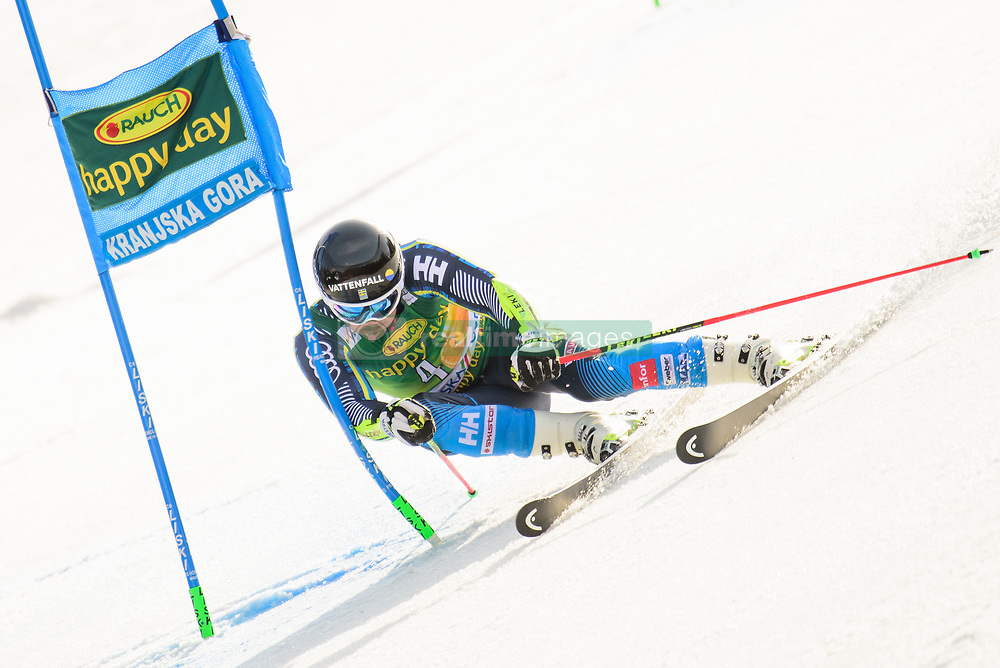 March 9, 2019 - Kranjska Gora, Kranjska Gora, Slovenia - Matts Olsson of Sweden in action during Audi FIS Ski World Cup Vitranc on March 8, 2019 in Kranjska Gora, Slovenia. (Credit Image: © Rok Rakun/Pacific Press via ZUMA Wire)
