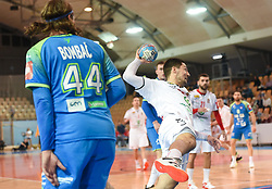 Lazar Kukic of Serbia during friendly handball match between Slovenia and Srbija, on October 27th, 2019 in Športna dvorana Lukna, Maribor, Slovenia. Photo by Milos Vujinovic / Sportida