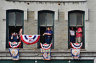 COOPERSTOWN, NY - JULY 25: Fans watch the Parade of Legends down Main Street on July 25, 2015 in Cooperstown, NY. (Photo by Jennifer Stewart/Arizona Diamondbacks/Getty Images)