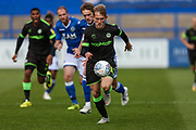 Forest Green Rovers George Williams(11) runs forward during the EFL Sky Bet League 2 match between Macclesfield Town and Forest Green Rovers at Moss Rose, Macclesfield, United Kingdom on 29 September 2018.