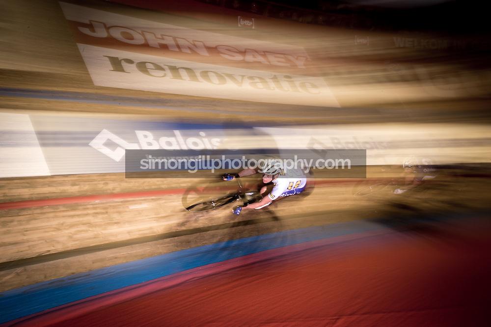 Ghent, Belgium - November, 2016: The 76th 6 Days of Ghent race at t'Kuipke Track Velodrome. Iljo Keisse