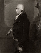 John Ker, 3rd Duke of Roxburghe (1740-1804) British courtier and book collector. The Roxburghe Club was inaugurated in his memory by keen bibliophiles on the day in 1812 when his collection was sold for £23,341.  Engraving after portrait by William Hamilton.