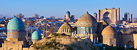 Ouzbékistan, Samarcande, classé Patrimoine Mondial de l'UNESCO, mausolée de Shah i Zinda // Uzbekistan, Samarkand, Unesco World Heritage, Shah i Zinda mausoleum