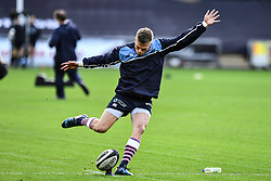 Cardiff Blues' Gareth Anscombe during the pre match warm up<br /> <br /> Photographer Craig Thomas/Replay Images<br /> <br /> Guinness PRO14 Round 13 - Ospreys v Cardiff Blues - Saturday 6th January 2018 - Liberty Stadium - Swansea<br /> <br /> World Copyright © Replay Images . All rights reserved. info@replayimages.co.uk - http://replayimages.co.uk