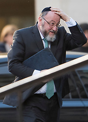 © Licensed to London News Pictures. 14/12/2017. London, UK. Chief Rabbi Ephraim Mirvis arrives at St Paul's Cathedral in London for a Grenfell Tower National Memorial Service to mark the six month anniversary of the Grenfell Tower fire. The service is attended by survivors of the fire and relatives of those who lost their lives in the fire, as well as members of the emergency services and members of the Royal family.  Over 70 people were killed when a huge fire ripped though 24-storey Grenfell Tower block in west London in June 2017.   Photo credit: Ben Cawthra/LNP