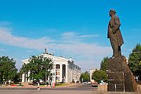Ukraine, Donetsk, staue de Lenine sur la place principale. // Ukraine, Donetsk, Lenine statue on the main square.