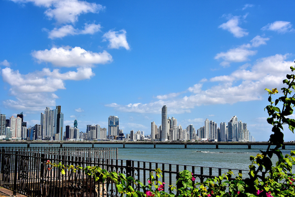 Cityscape of Urban Center in Panama City, Panama <br />