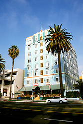 California: Los Angeles area.  Georgian Art Deco Hotel in Santa Monica..Photo: cabeve105..Photo copyright Lee Foster, 510/549-2202, lee@fostertravel.com, www.fostertravel.com..Photo #: cabeve 105