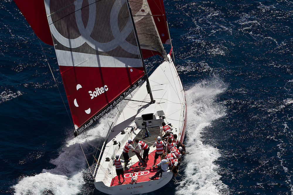 ITALY, Sardinia, Cagliari. 20th July 2011. AUDI MedCup. Region of Sardinia Trophy. Audi Sailing Team powered by ALL4ONE.