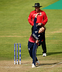 Jenny Gunn of England Women bowls - Mandatory by-line: Robbie Stephenson/JMP - 09/07/2017 - CRICKET - Bristol County Ground - Bristol, United Kingdom - England v Australia - ICC Women's World Cup match 19