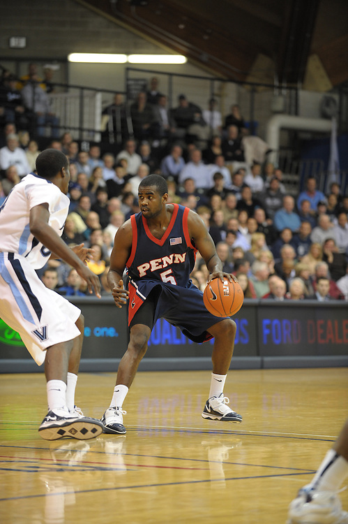 VILLANOVA, PA - NOVEMBER 16:  of the Penn Quakers during the game against the Villanova Wildcats on November 16, 2009 at The Pavilion in Villanova, Pennsylvania. (Photo by Drew Hallowell/Getty Images)  *** Local Caption ***