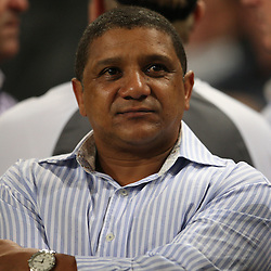 DURBAN , SOUTH AFRICA  / MAY /08, <br /> coach Allister Coetzee prior to the Super 14 match between Sharks and Vodacom Stormers from Absa Stadium on May 08, 2010 in Durban, South Africa.<br /> Photo by Steve Haag / Gallo Images