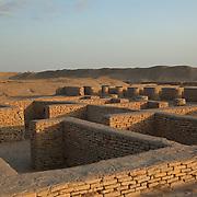 Parts of the old caravanserai, in the silk road city of Dekhistan, Turkmenistan