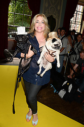 BRIX SMITH START and her dogs wearing a Philip Treacy hats at the 6th Dogs Trust Honours held at Home House, Portman Square, London on 23rd July 2013.