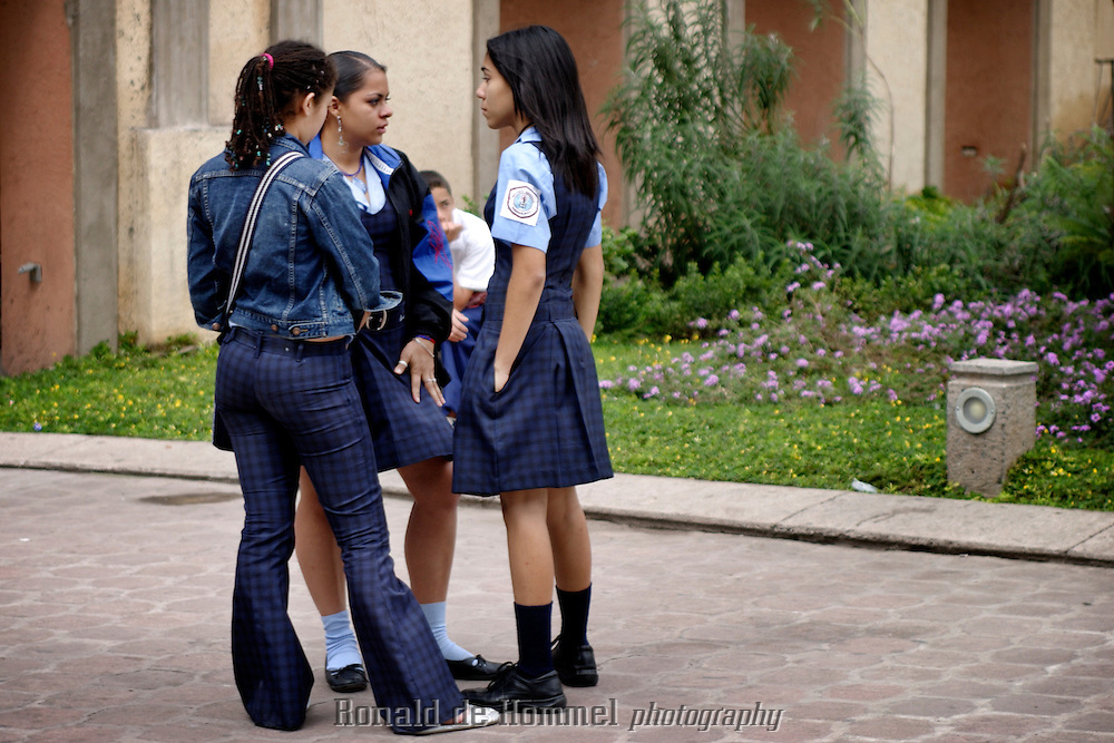 Schoolgirls in Tegucigalpa in Honduras