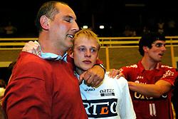 25-04-2009 VOLLEYBAL: PLAYOFF FINALE DOCSTAP ORION - ORTEC NESSELANDE: DOETINCHEM<br /> Nesselande verslaat Orion met 3-1 en is Nederlands kampioen / Ron Zwerver en Wouter Stoltz<br /> ©2009-WWW.FOTOHOOGENDOORN.NL