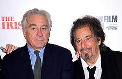 Robert de Niro and Al Pacino attending the Closing Gala and International premiere of The Irishman, held as part of the BFI London Film Festival 2019, London.