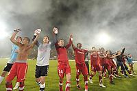 FOOTBALL - FRENCH CHAMPIONSHIP 2010/2011 - L1 - VALENCIENNES FC v OGC NICE - 29/05/2011 - PHOTO ALAIN GADOFFRE / DPPI - JOY VALENCIENNES AFTER THE MATCH