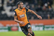 Ahmed Elmohamady (Hull City) during the Sky Bet Championship match between Hull City and Cardiff City at the KC Stadium, Kingston upon Hull, England on 13 January 2016. Photo by Mark P Doherty.
