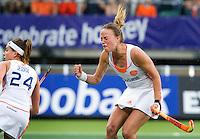 DEN HAAG - Maartje Paumen weet niet te scoren uit de strafcorner tijdens de poulewedstrijd bij de World Cup Hockey 2014 tussen de vrouwen van Nederland en Australie (2-0). ANP KOEN SUYK