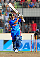 Cricket - Sachin Tendulkar celebrates his 100th International Century