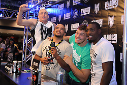 October 7, 2011; Houston, TX.; USA;  (l to r) Jason Miller, Joey Beltran, Matt Mitrione, and Phil Davis at the Headrush booth at the UFC 136 Fan Expo at the George R. Brown Convention Center in Houston, TX.