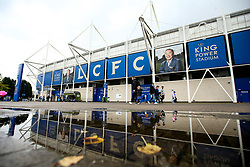 A reflection of The King Power Stadium in a puddle - Mandatory by-line: Robbie Stephenson/JMP - 29/09/2019 - FOOTBALL - King Power Stadium - Leicester, England - Leicester City v Newcastle United - Premier League