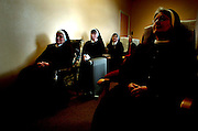 The Enclosed Order of Poor Clare Nuns in Ennis ,Co Clare watching the funeral of Pope John Paul II on Television in 2005...Photograph by Eamon Ward