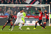 Julien FERET  - 25.01.2015 - Rennes / Caen  - 22eme journee de Ligue1<br /> Photo : Vincent Michel / Icon Sport *** Local Caption ***