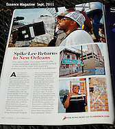 Feature On Spike Lee at work in New Orleans for Essence Magazine.