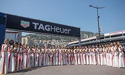 May 27, 2017 - Monte-Carlo, Monaco - Grid Girls are ready for the race on Formula 1 Grand Prix de Monaco on May 27, 2017 in Monte Carlo, Monaco. (Credit Image: © Robert Szaniszlo/NurPhoto via ZUMA Press)