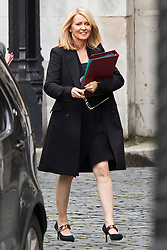 © Licensed to London News Pictures. 16/10/2019. London, UK. Minister of State for Housing and Planning Esther McVey walks in The Houses of Parliament.  Photo credit: George Cracknell Wright/LNP