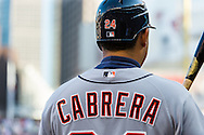 Miguel Cabrera #24 of the Detroit Tigers waits on-deck during a game against the Minnesota Twins on September 29, 2012 at Target Field in Minneapolis, Minnesota.  The Tigers defeated the Twins 6 to 4.  Photo: Ben Krause