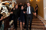 SARAH; BEN BRADSHAW, Unveiling of the Dior Christmas Tree by John Galliano at Claridge's. London. 1 December 2009 *** Local Caption *** -DO NOT ARCHIVE-© Copyright Photograph by Dafydd Jones. 248 Clapham Rd. London SW9 0PZ. Tel 0207 820 0771. www.dafjones.com.<br /> SARAH; BEN BRADSHAW, Unveiling of the Dior Christmas Tree by John Galliano at Claridge's. London. 1 December 2009
