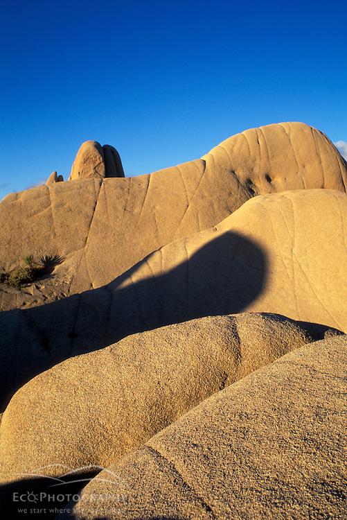 Joshua Tree N.P., CA. Monzogranite Boulders. Jumbo Rocks Campground. Desert scenics. Winter.